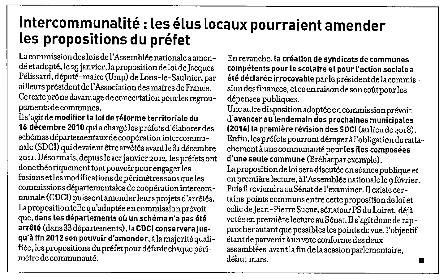 120131_LettreDuMaire_intercommunalite