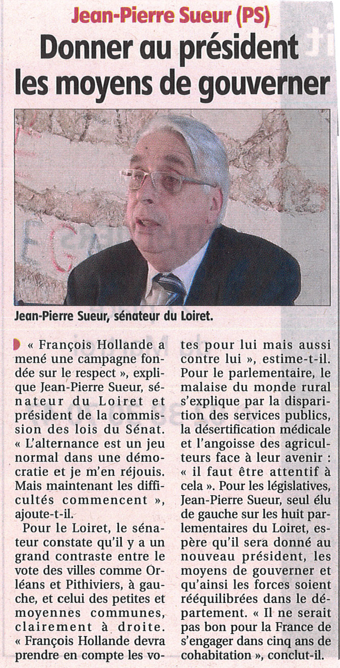 120510_CourrierLoiret_presidentielle
