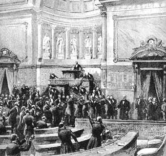 Ovation au senat 1881