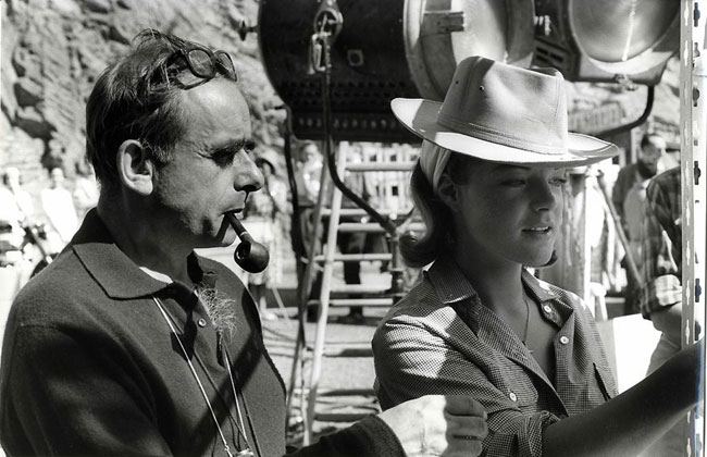 """Henri-Georges Clouzot et Romy Schneider sur le tournage de """"L'Enfer"""""""